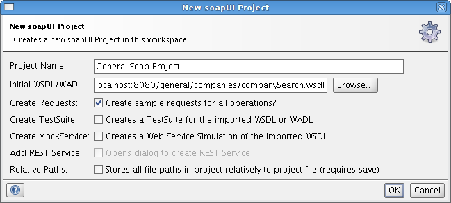 New SoapUI Project